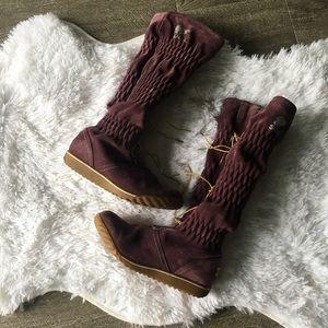 purple suede firenzy sorel boot